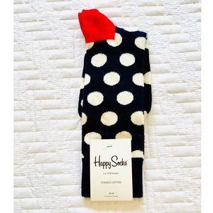 Happy Socks navy & white polka dot